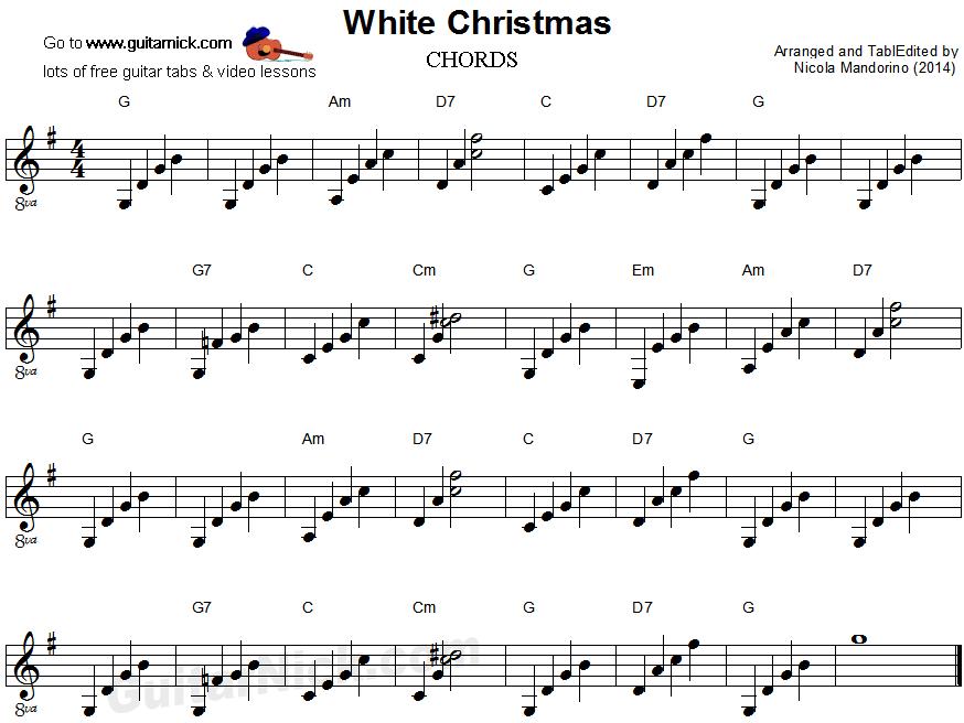 White Christmas Chords